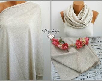 Cotton Nursing scarf Nursing cover up  Breastfeeding scarf Nursing infinity scarf