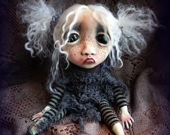 Loopy Southern Gothic Art Doll Fantasy Dark Creepy Pixie Phanny