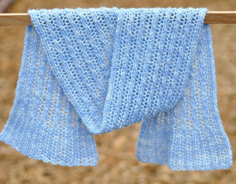 Reversible Scarf Knitting Pattern PDF, Reversible Knitted Scarf ...