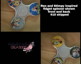 REN & STIMPY inspiré fidget spinner