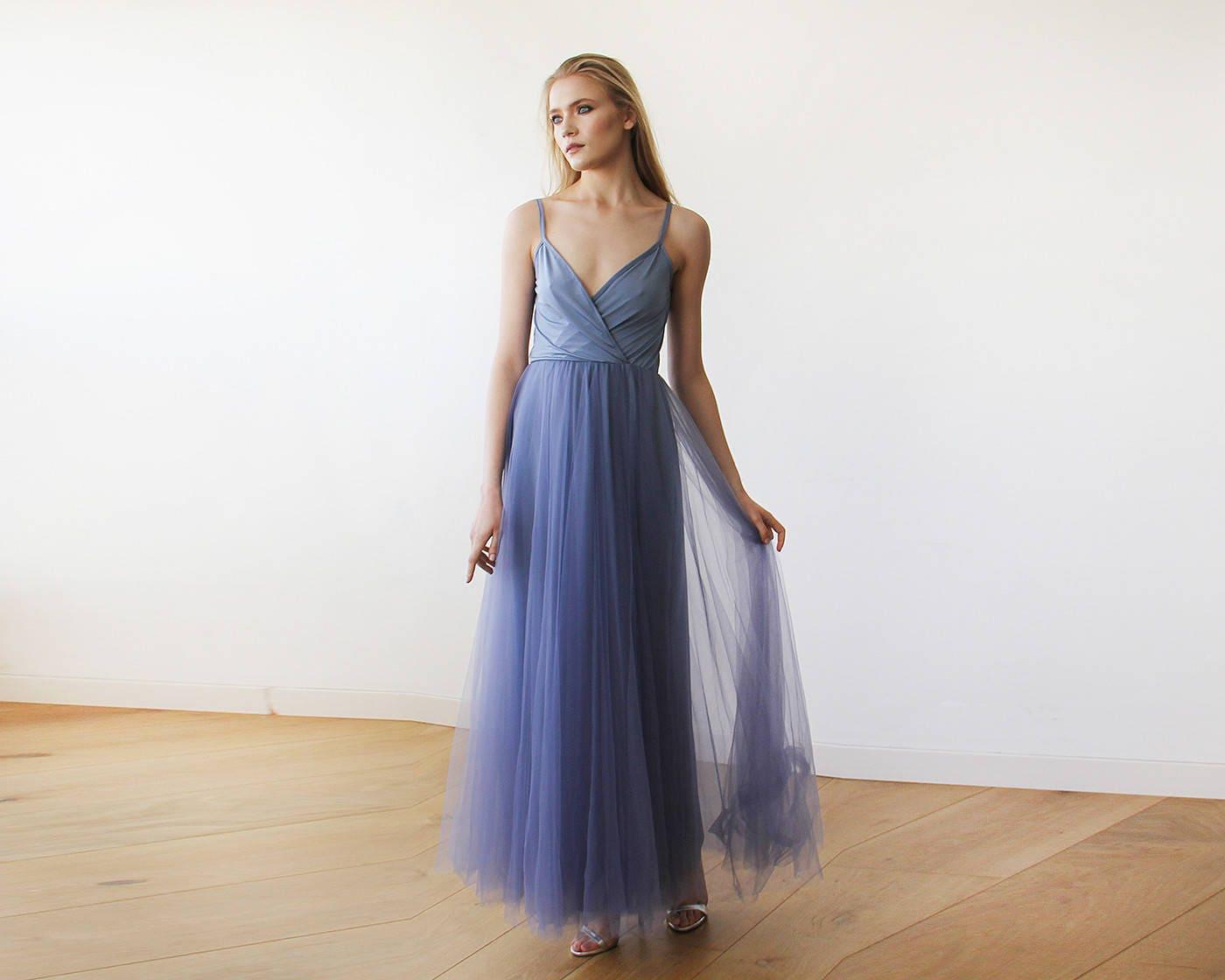 Ungewöhnlich Brautjunferkleider Staubig Blau Galerie - Brautkleider ...