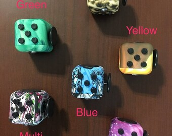 Customized Fidget Cube * 6 Design Options * Add your initials!