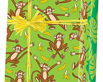 Monkey Go Bananas Gift Wrap Wrapping Paper 15ft Roll