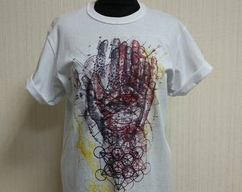 Art.ice Hand fate Exclusive handmade T-shirt from Ukraine  size M in one copy