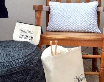 Yarn Nerd Knitting Project Tote Bag