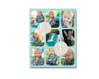 INSTANT DOWNLOADABLE | Cake Smash Storyboard | Photoshop Template | photography template