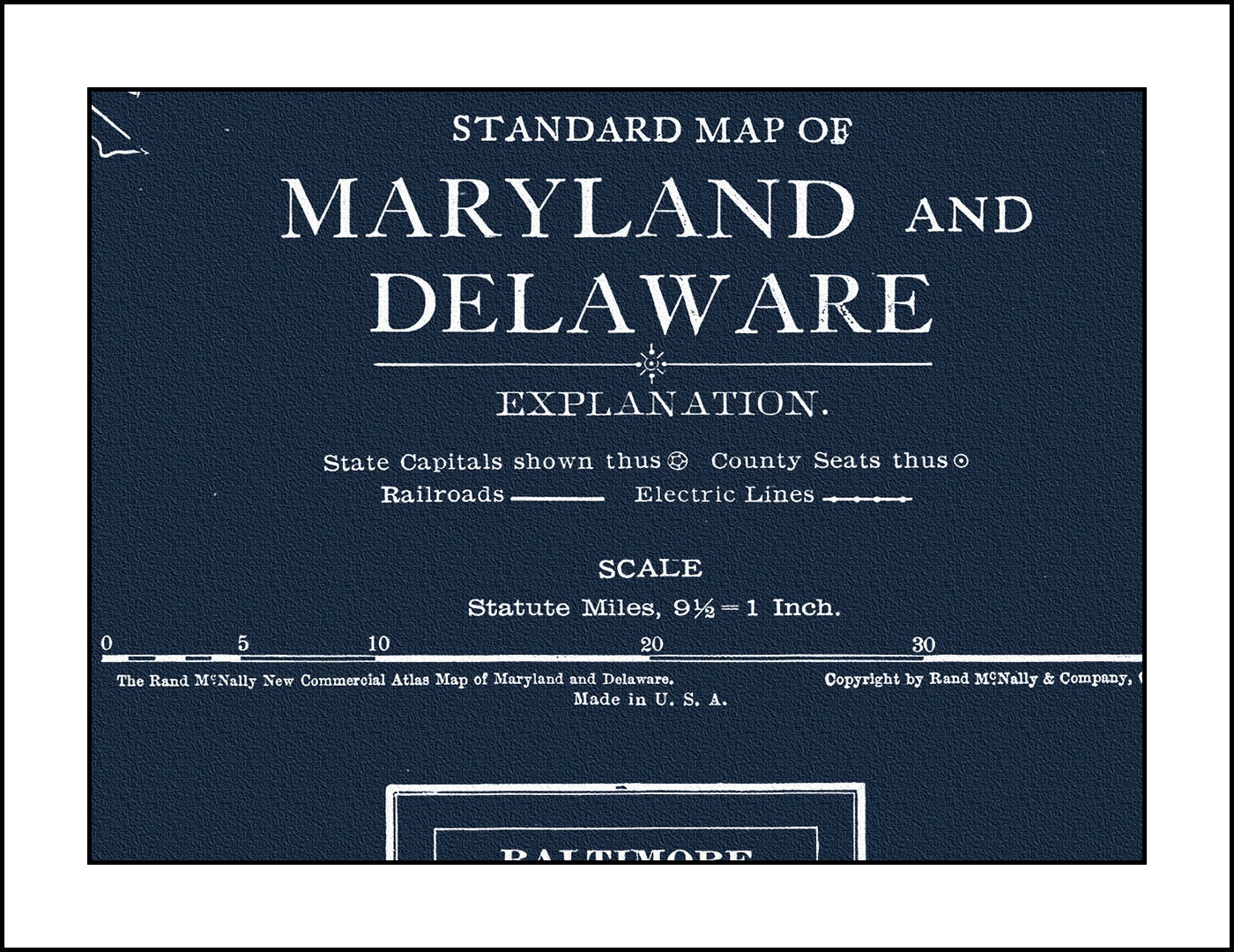 Maryland map baltimore annapolis delaware map dover washington maryland map baltimore annapolis delaware map dover washington dc map blueprint map vintage map antique map malvernweather Gallery