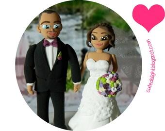 Wedding Cake Topper - CUSTOM cake topper, FUNNY cake topper, Wedding figurines, wedding topper, wedding toppers, cake toppers wedding,