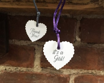 Custom Heart Tags: gifts, wedding decor, hotel bags, invitations, bridal shower, baby shower