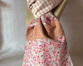 Liberty gingham scarf / Wiltshire pink