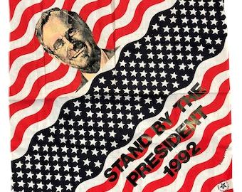 1992 Campaign Bandana Handkerchief - George H Bush