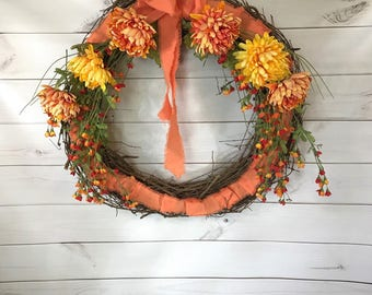 Napa Wreath Moss Covered Mother Day Wreath Front Door