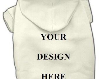 Dog Hooded Sweatshirt - Custom Tee Shirt - White