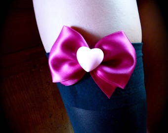 big heart pout customisation lingerie and fuchsia bow
