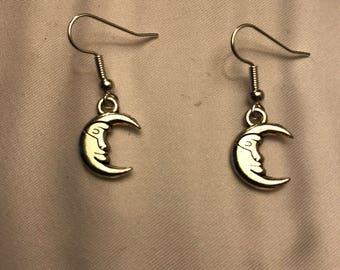 The Silvery Moon Dangle Earrings
