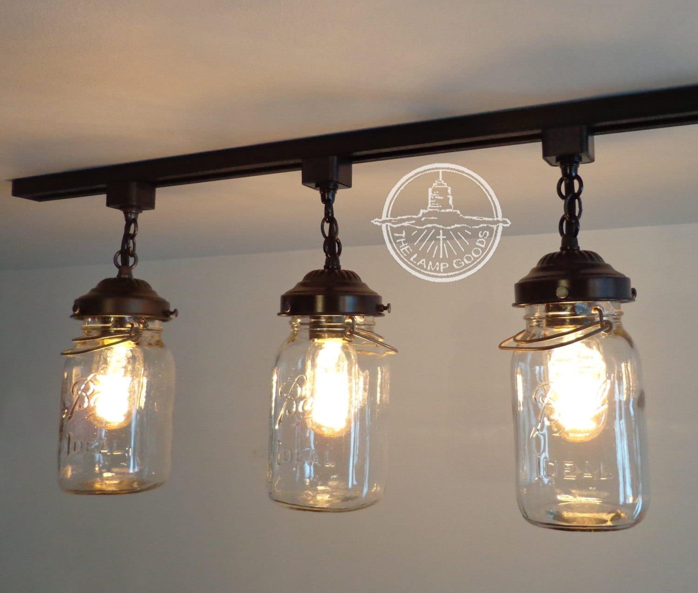 Mason jar track lighting with vintage quarts zoom arubaitofo Image collections