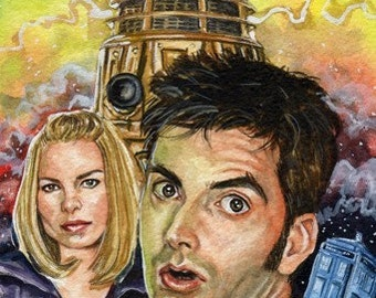 Doctor Who 4.5 x 7 inch Reproduction Print