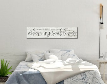 Scripture Wood Sign,I Have Found the One Whom My Soul Loves, Wood Inspirational Sign, Song of Solomon, Wood Scripture Sign, Scripture Sign