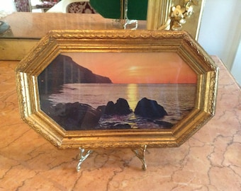 Italian Gold Leaf Frame with Sunset Print