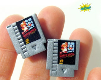 CUFFLINKS! Original Mario Bros, Nintendo cufflinks, Gamer Jewelry, NES Jewelry, Groom Cufflinks, Video Game Jewelry, Super Mario Brothers