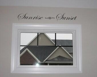 Sunrise - Sunset Vinyl Decal  Custom Vinyl Decal