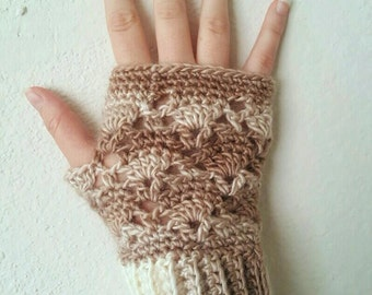 Vintage Fingerless Gloves Crochet Pattern *PDF FILE ONLY* Instant Download