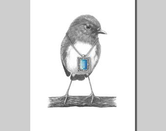 Robin with Pendant