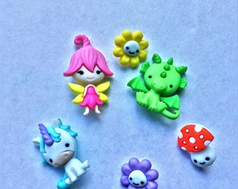 Colorful and Whimsical Children's Buttons, Sewing, Scrapbook Supplies
