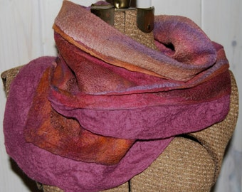 Nuno Felted Scarf and Cowl