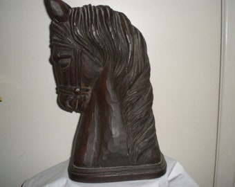Carved Wooden Horsehead