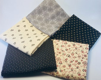 Black Civil War Fabric Bundle Quilt Quilting Quilts Fabric Cotton Sewing Rustic Home Decor