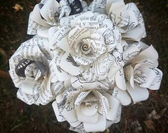 Matilda Book Bouquet-Book lover gift-Book Bouquet-Book decor- Unique Gift- Bridal Bouquet- Paper flowers-Roald Dahl- Valentines