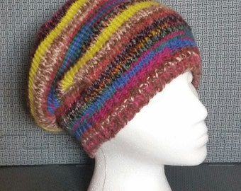 Wool Knit Slouchy Hat