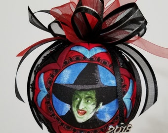 Wizard of Oz Quilted Ornament, Christmas Ornament, The Wicked Witch Keepsake Ornament, Margaret Hamilton Collector, Wicked Witch of the West