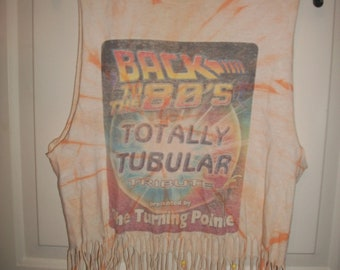 Vintage 80's Tribute Altered Tee Shirt Size S