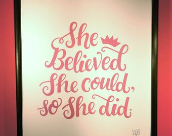 She Believed print
