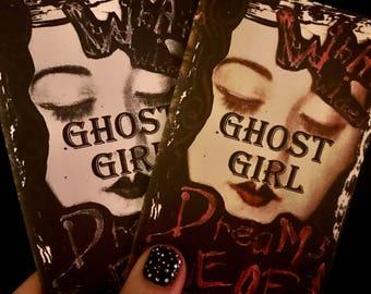 Ghost Girl Mini Art Zine Mixed Media Digital Original Gothic Dark Art by Izabella Blue Drayven