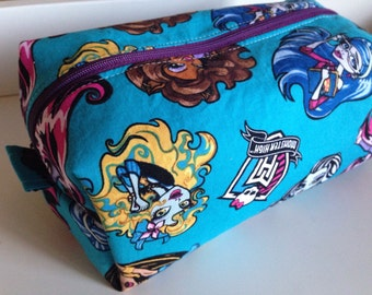 SALE Kids Toiletry Bag, Kid Toiletry,  Travel  Bag, Makeup Bag, Monster High Travel Bag