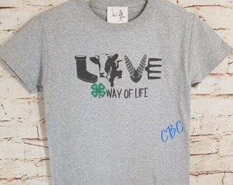 4-H Way Of Life Cow Adult, cow shirt, farmer shirt, farm life shirt, cow lover gift,  farmer gift, 4-H shirt