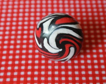 black and Red swirl ring