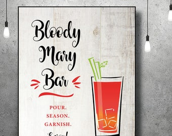 Bloody Mary Bar   Bloody Mary Bar Sign   Bridal Shower   Bar Sign   Instant Download   Rustic Bridal Shower   Brunch   Rustic Wedding