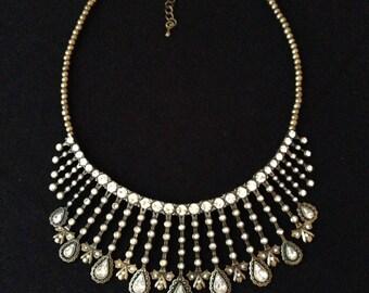 Vintage Cookie Lee Bib style reversible necklace