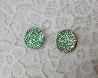 Peridot Swarovski Earrings