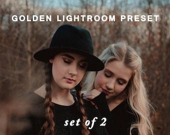 Golden - Lightroom Preset Set of 2