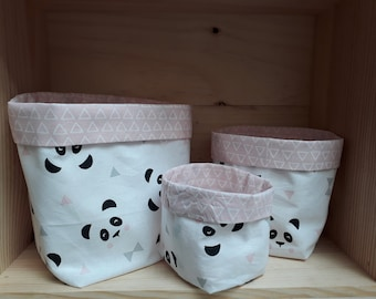 Panda decorative storage baskets