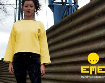 Sweater Yellow. 80% Cotton