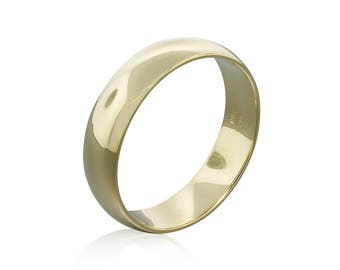 14K Gold Classic Band Wedding Ring • Gold Band Minimalist Ring Gift for Him • Gold Ring Wedding Band