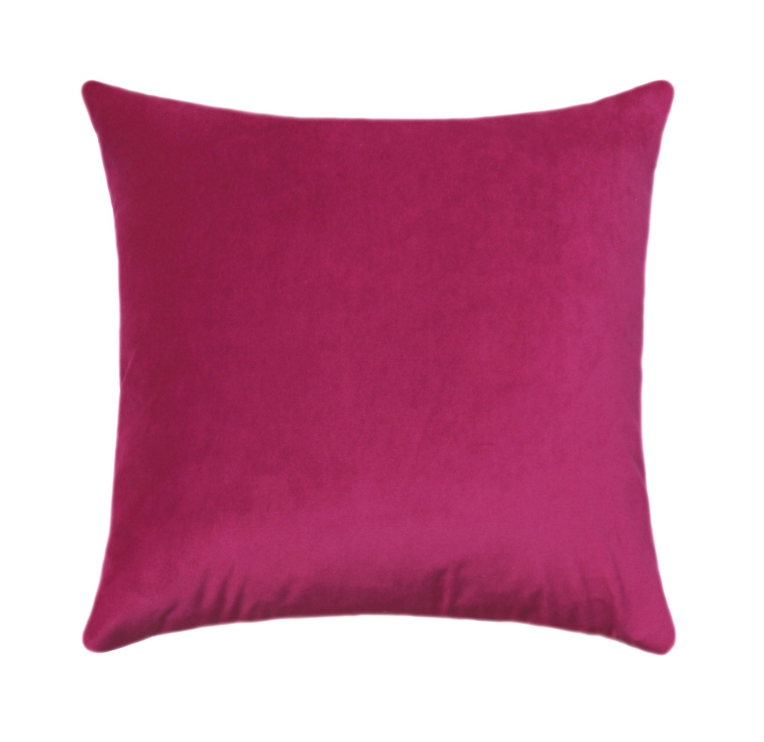 Hot Pink Pillow Cover Velvet Throw Pillow Magenta Pillow