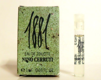 Vintage 1990s Cerruti 1881 Men by Cerruti 0.03 oz Eau de Toilette Sample Vial in Box MEN'S COLOGNE