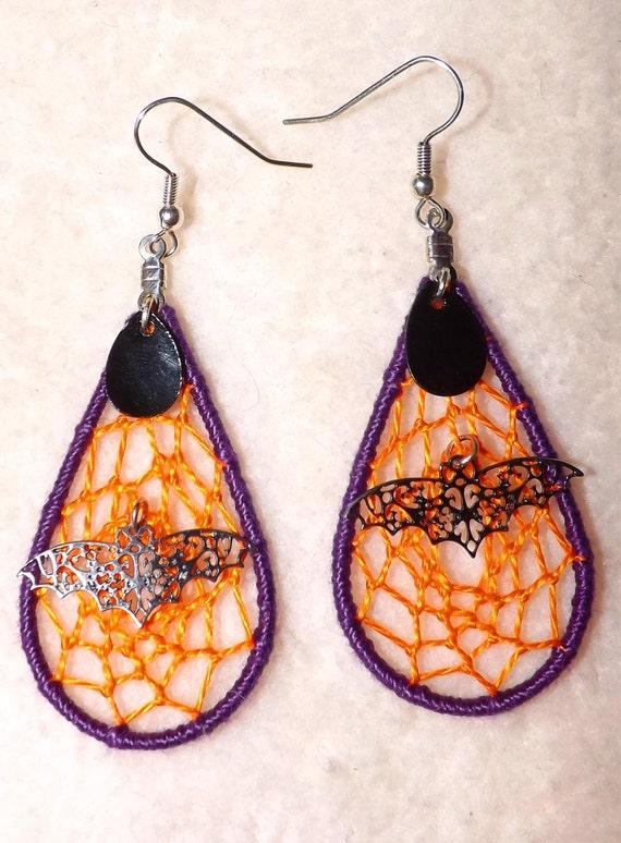 Halloween Dream Catcher Earrings
